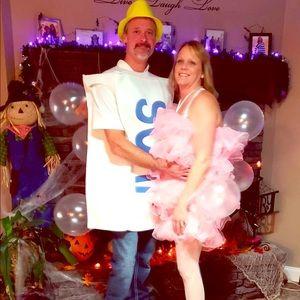 This was fun! Couples Soap/Luffa sponge costume.